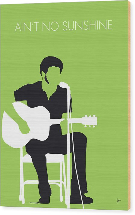 No156 MY BILL WITHERS Minimal Music poster by Chungkong Art