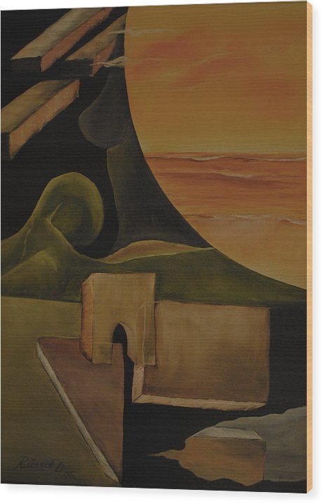 Surrealism Wood Print featuring the painting The Dream by Dejan Roncevic