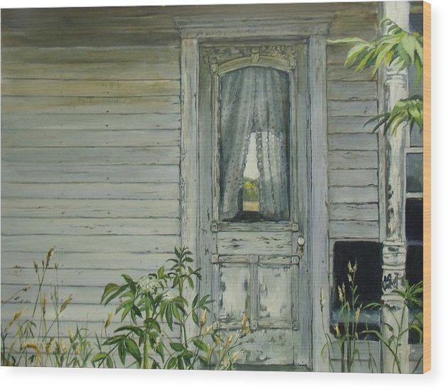 Farmhouse Wood Print featuring the painting Doorway by William Brody