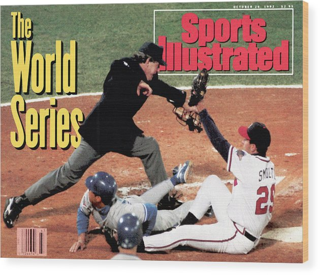 Atlanta Wood Print featuring the photograph Atlanta Braves John Smoltz, 1992 World Series Sports Illustrated Cover by Sports Illustrated