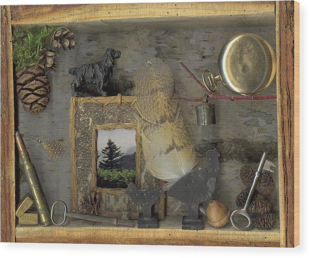 Antiques; Pocket Watch Wood Print featuring the mixed media Memories by Sandi F Hutchins