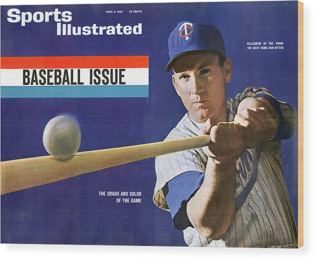 Magazine Cover Wood Print featuring the photograph 1963 Mlb Baseball Preview Issue Sports Illustrated Cover by Sports Illustrated