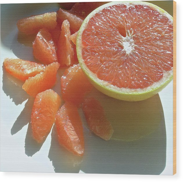 Grapefruit Wood Print featuring the photograph Sunrise Sections by James Temple