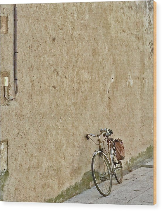 Europe Wood Print featuring the digital art Provencial Bike by Scott Waters