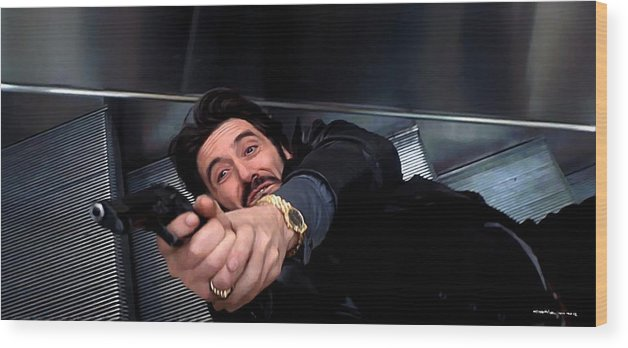 Al Pacino Wood Print featuring the digital art Al Pacino @ Carlito's Way by Gabriel T Toro