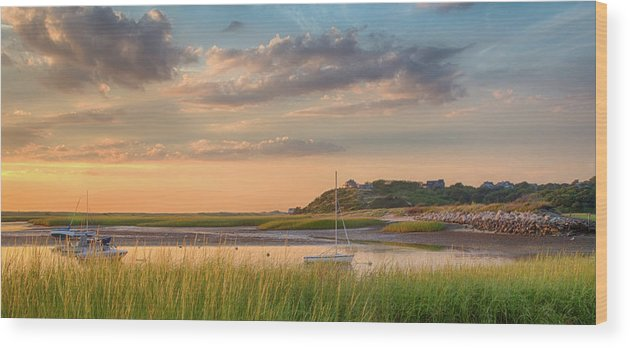 Scenics Wood Print featuring the photograph Pamet Harbor In Afternoon by Betty Wiley