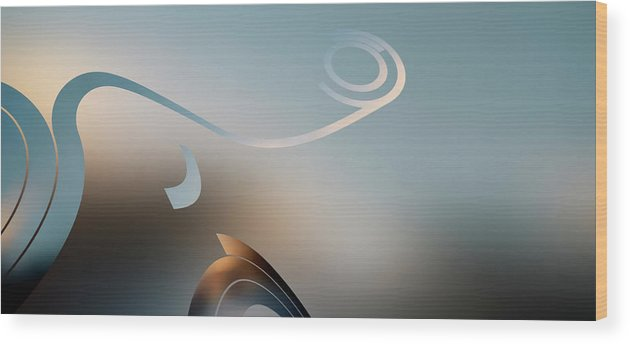 Curve Wood Print featuring the digital art Retro Pop Art Design by Ralf Hiemisch