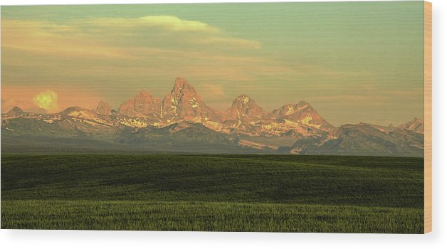 Scenics Wood Print featuring the photograph The Idaho Side Of The Grand Tetons by ©anitaburke