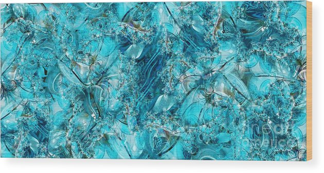 Collage Wood Print featuring the digital art Glass Sea by Ron Bissett