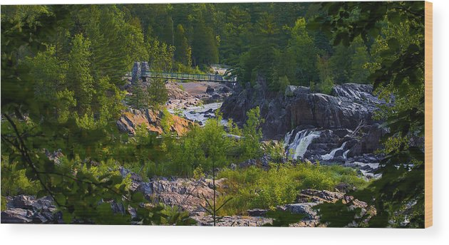 Bridge Wood Print featuring the photograph Mid Morning on the River by Kelly Anderson