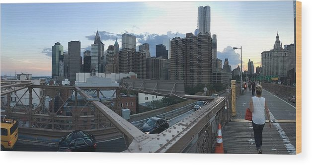 Wood Print featuring the photograph NYC by Ashley Torres