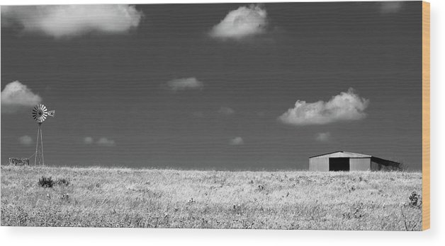 Smoke Wood Print featuring the photograph Wide Open Spaces by Peyton Vaughn