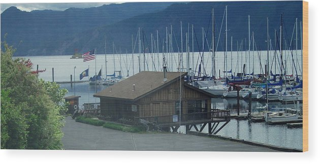 Bayview Wood Print featuring the photograph Bayview Idaho by Kenneth LePoidevin