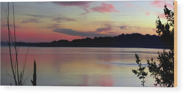 Sunset Wood Print featuring the photograph Early Whidbey Island Sunset by Mary Gaines
