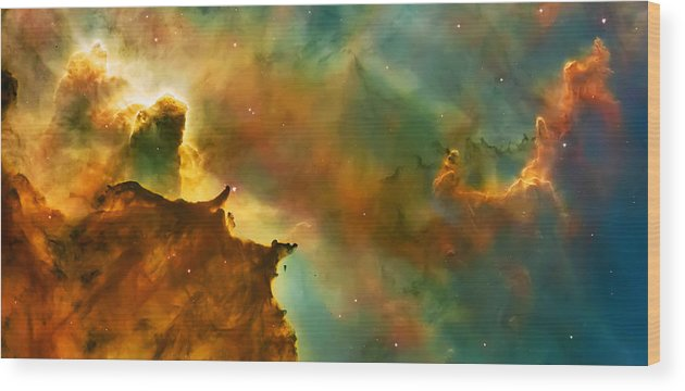 Nasa Images Wood Print featuring the photograph Nebula Cloud by Jennifer Rondinelli Reilly - Fine Art Photography