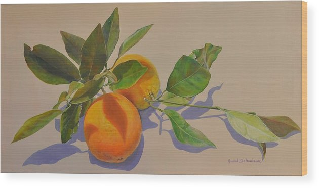 Acrylic Painting Wood Print featuring the painting Ombres Mauves by Muriel Dolemieux