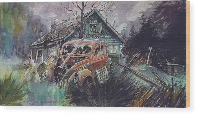 Ford Wood Print featuring the painting Affordable by Ron Morrison