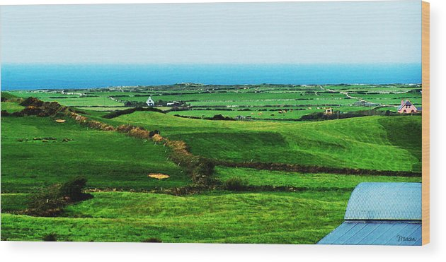 Ireland Wood Print featuring the photograph Atlantic View Doolin Ireland by Teresa Mucha