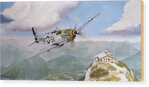 Military Wood Print featuring the painting Double Trouble Over The Eagle by Marc Stewart