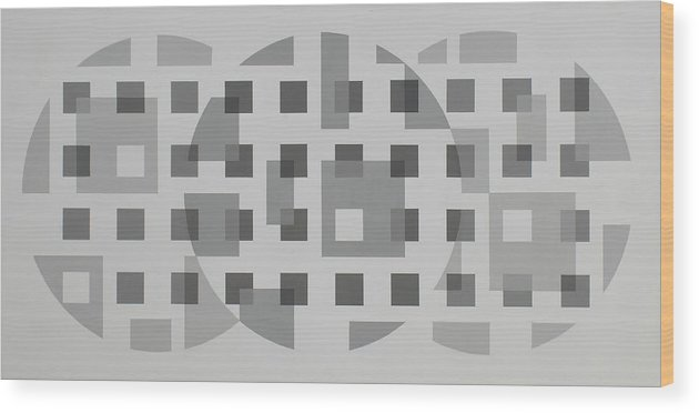 Value Study In Grays. Wood Print featuring the painting Moon Gate Series #1 by Marston A Jaquis