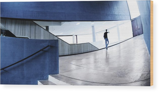 Pedestrian Wood Print featuring the photograph Modern Architecture by Nikada