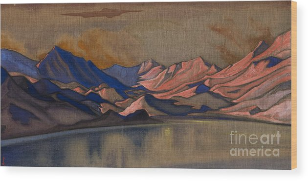 Himalayas Wood Print featuring the drawing Baralacha, 1944. Artist Roerich by Heritage Images