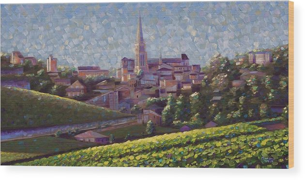 Robbuntinart Wood Print featuring the painting St. Emilion Art by Rob Buntin