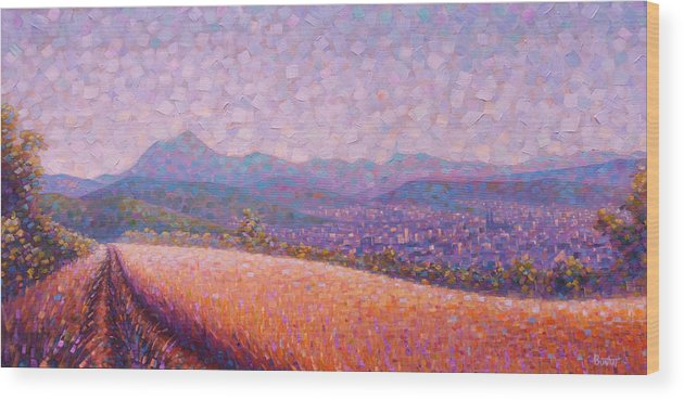 Auvergne Wood Print featuring the painting Chaine des Puys by Rob Buntin