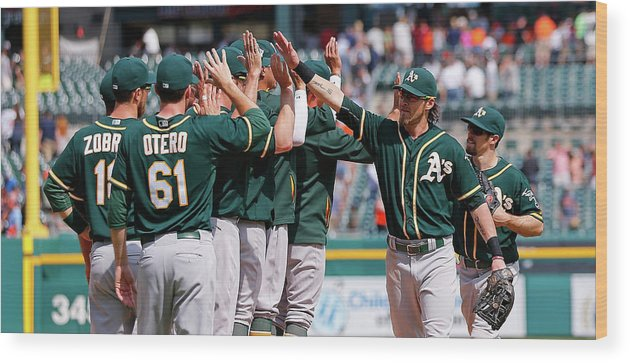 People Wood Print featuring the photograph Josh Reddick by Leon Halip