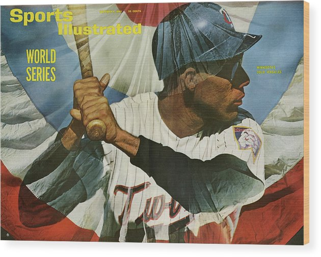 Magazine Cover Wood Print featuring the photograph Minnesota Twins Zoilo Versalles, 1965 World Series Preview Sports Illustrated Cover by Sports Illustrated