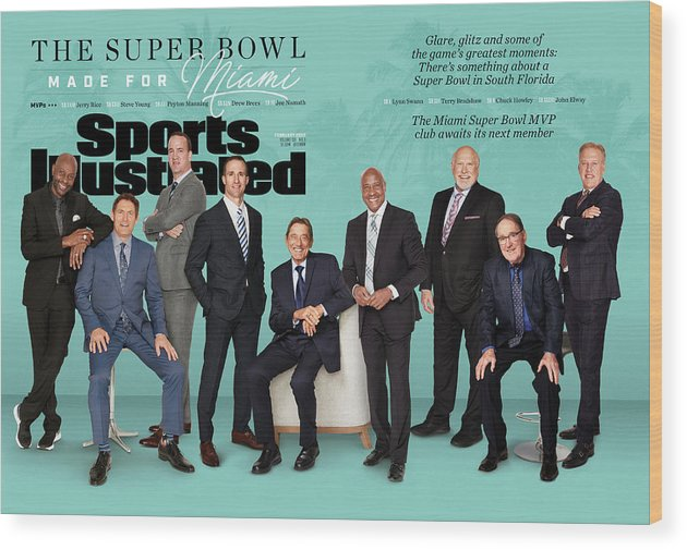 Magazine Cover Wood Print featuring the photograph The Super Bowl Made For Miami Sports Illustrated Cover by Sports Illustrated