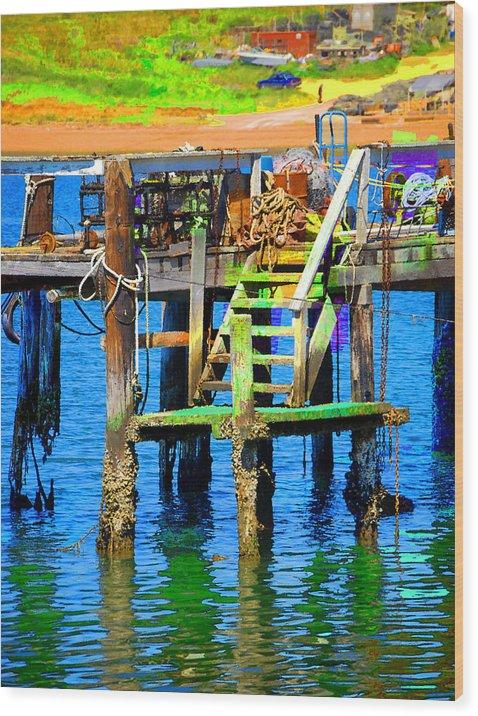 Wood Print featuring the digital art Dock by Danielle Stephenson