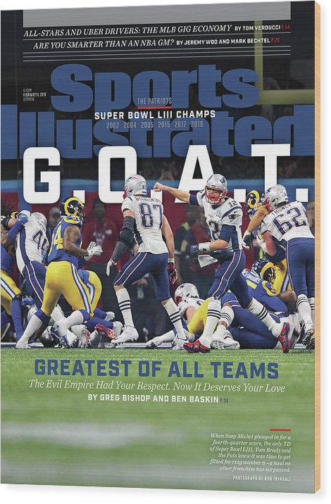 Atlanta Wood Print featuring the photograph G.o.a.t Greatest Of All Teams Sports Illustrated Cover by Sports Illustrated