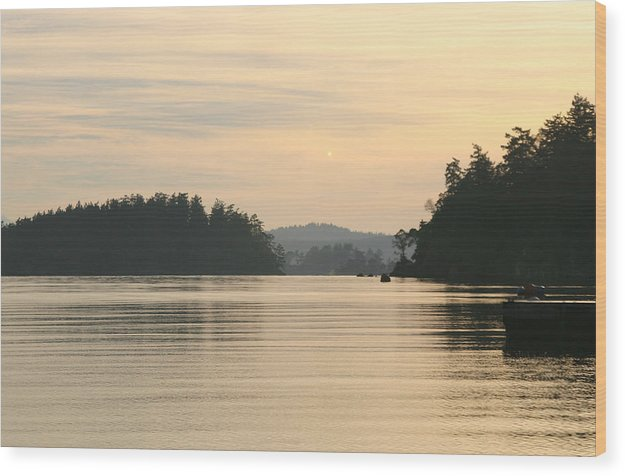 Sunset Wood Print featuring the photograph Golden Waters by Doug Johnson