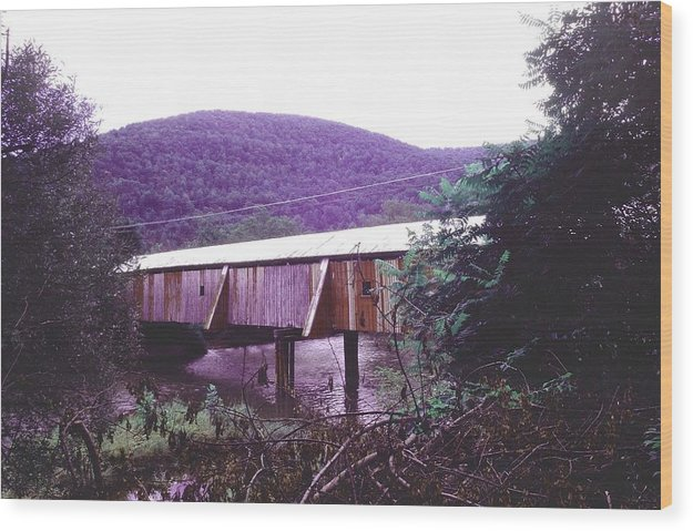 Bridge Wood Print featuring the photograph 10602-17 by Mike Davis