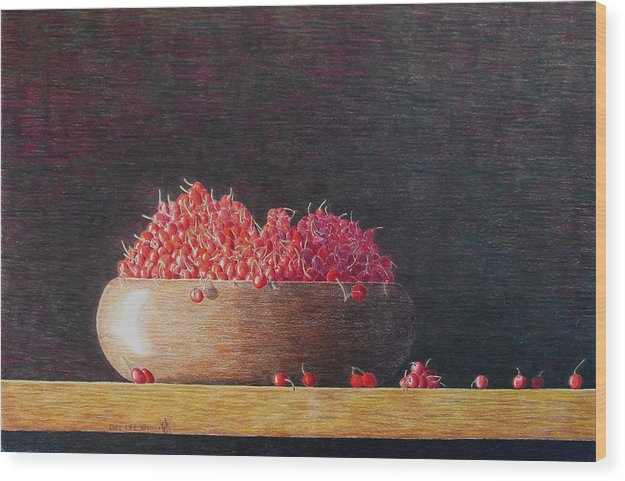Still Life Wood Print featuring the painting Full Life by A Robert Malcom