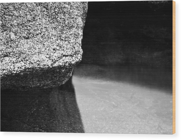 Black Wood Print featuring the photograph Granite Three by Geoff Evans