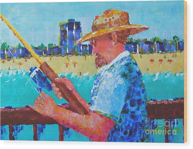 Beach Art Wood Print featuring the painting Artist Life by Art Mantia