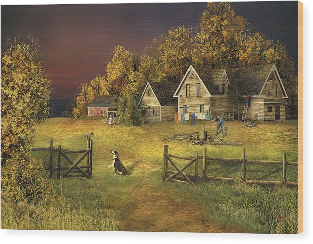 Country Landscape Wood Print featuring the digital art Countryliving by Russell Cleversley