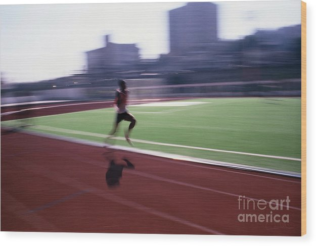Athlete Wood Print featuring the photograph Morning Practice by Carlos Alvim