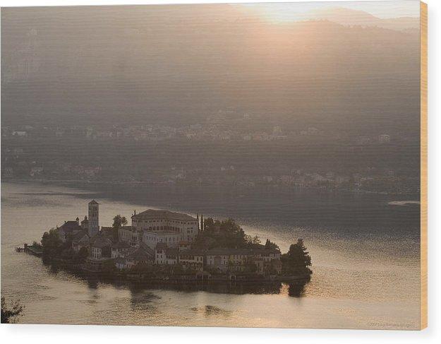 Italy Wood Print featuring the photograph San Giulio Island by Luigi Barbano BARBANO LLC