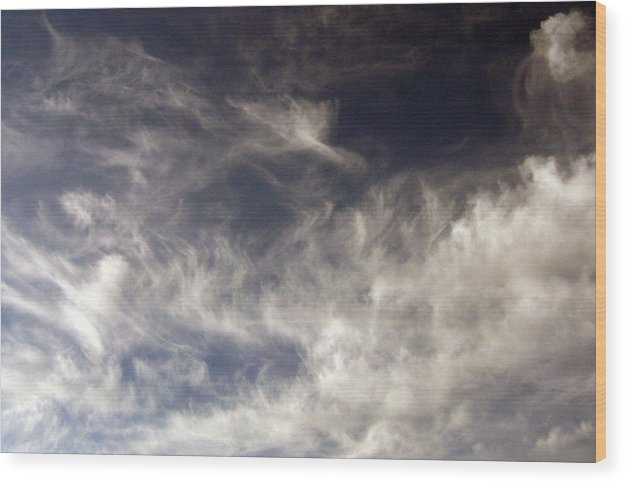 Cloud Wood Print featuring the photograph Sky9 by Mikael Gambitt