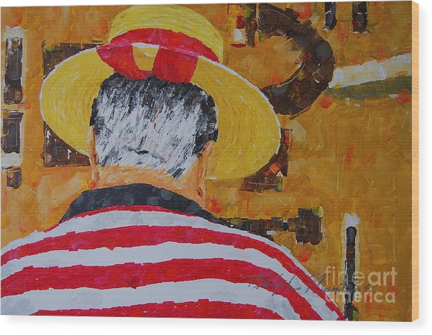 People Situation Wood Print featuring the painting Tony Lover Of The Arts by Art Mantia