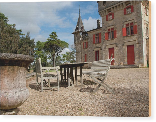 Bordeaux Wood Print featuring the photograph Bordeaux Chateau by Kevin Bain