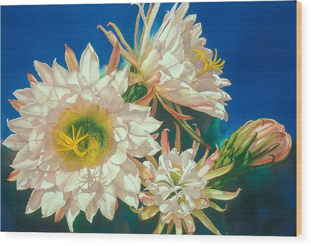 Floral Wood Print featuring the print Encore by Mary Backer