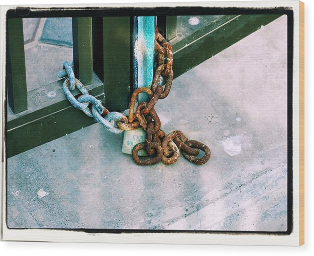 Lock Wood Print featuring the photograph Rustic Elements by Ambreen Jamil
