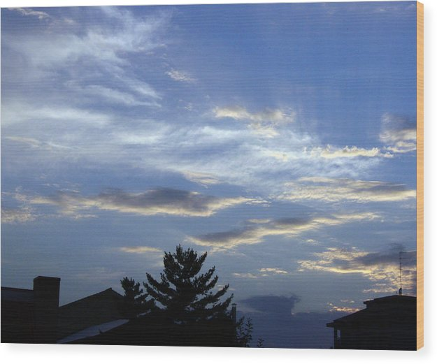 Cloud Wood Print featuring the photograph Sky4 by Mikael Gambitt