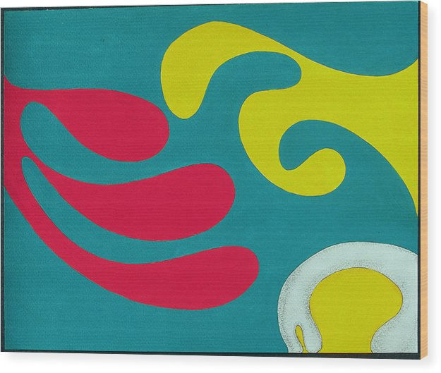 Pop Art Wood Print featuring the painting Dr. Seuss Breakfast Copyright Two Thousand Nine J.a.moscariello by Jaye Alison