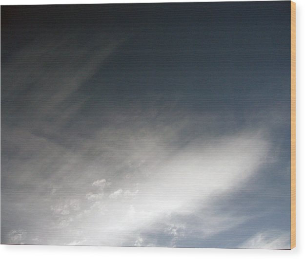 Cloud Wood Print featuring the photograph Sky8 by Mikael Gambitt
