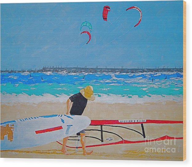 Beach Art Wood Print featuring the painting Dreamer Disease V Ponce Inlet by Art Mantia